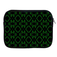 Green Black Pattern Abstract Apple iPad 2/3/4 Zipper Cases
