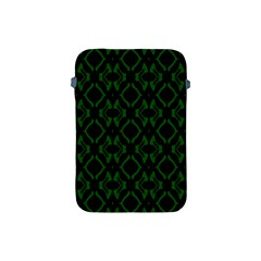 Green Black Pattern Abstract Apple iPad Mini Protective Soft Cases