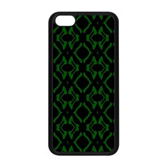 Green Black Pattern Abstract Apple Iphone 5c Seamless Case (black)