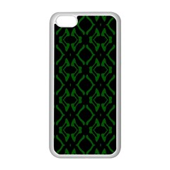 Green Black Pattern Abstract Apple iPhone 5C Seamless Case (White)