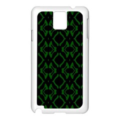 Green Black Pattern Abstract Samsung Galaxy Note 3 N9005 Case (White)