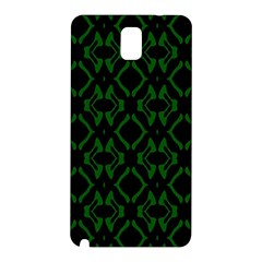 Green Black Pattern Abstract Samsung Galaxy Note 3 N9005 Hardshell Back Case