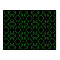 Green Black Pattern Abstract Double Sided Fleece Blanket (Small)