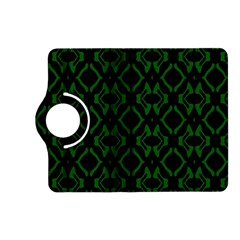 Green Black Pattern Abstract Kindle Fire Hd (2013) Flip 360 Case