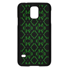 Green Black Pattern Abstract Samsung Galaxy S5 Case (black)