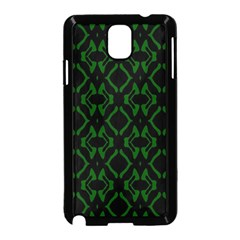 Green Black Pattern Abstract Samsung Galaxy Note 3 Neo Hardshell Case (Black)