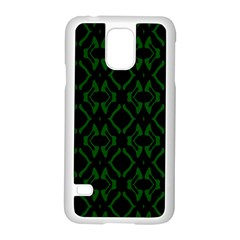 Green Black Pattern Abstract Samsung Galaxy S5 Case (white)