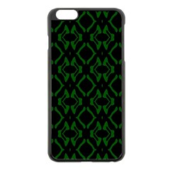 Green Black Pattern Abstract Apple Iphone 6 Plus/6s Plus Black Enamel Case