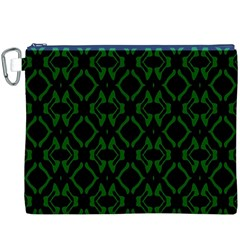 Green Black Pattern Abstract Canvas Cosmetic Bag (XXXL)