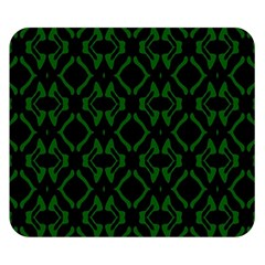 Green Black Pattern Abstract Double Sided Flano Blanket (small)