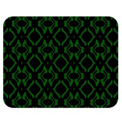 Green Black Pattern Abstract Double Sided Flano Blanket (Medium)