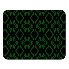 Green Black Pattern Abstract Double Sided Flano Blanket (Large)