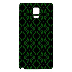 Green Black Pattern Abstract Galaxy Note 4 Back Case