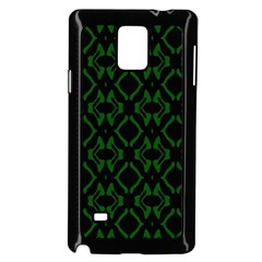 Green Black Pattern Abstract Samsung Galaxy Note 4 Case (black)