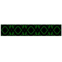 Green Black Pattern Abstract Flano Scarf (Large)