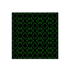 Green Black Pattern Abstract Satin Bandana Scarf