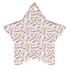 Confetti Background Pink Purple Yellow On White Background Ornament (star)