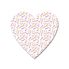 Confetti Background Pink Purple Yellow On White Background Heart Magnet