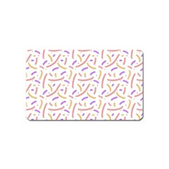 Confetti Background Pink Purple Yellow On White Background Magnet (name Card)