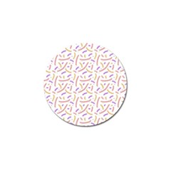 Confetti Background Pink Purple Yellow On White Background Golf Ball Marker (10 Pack)