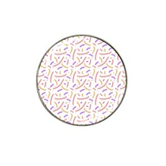 Confetti Background Pink Purple Yellow On White Background Hat Clip Ball Marker (10 Pack)