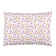Confetti Background Pink Purple Yellow On White Background Pillow Case