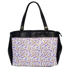 Confetti Background Pink Purple Yellow On White Background Office Handbags