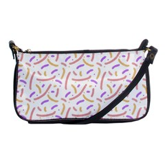 Confetti Background Pink Purple Yellow On White Background Shoulder Clutch Bags