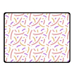 Confetti Background Pink Purple Yellow On White Background Fleece Blanket (small)