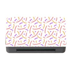Confetti Background Pink Purple Yellow On White Background Memory Card Reader with CF