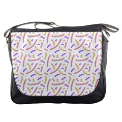 Confetti Background Pink Purple Yellow On White Background Messenger Bags