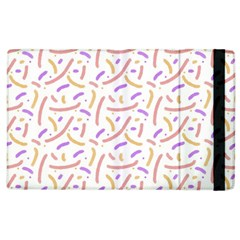 Confetti Background Pink Purple Yellow On White Background Apple iPad 2 Flip Case