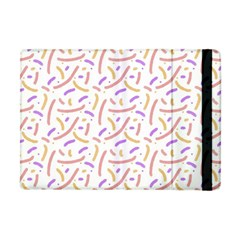 Confetti Background Pink Purple Yellow On White Background Apple iPad Mini Flip Case