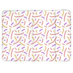 Confetti Background Pink Purple Yellow On White Background Samsung Galaxy Tab 7  P1000 Flip Case