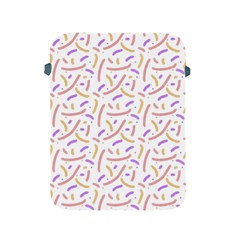Confetti Background Pink Purple Yellow On White Background Apple iPad 2/3/4 Protective Soft Cases