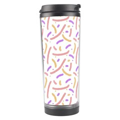 Confetti Background Pink Purple Yellow On White Background Travel Tumbler
