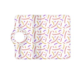 Confetti Background Pink Purple Yellow On White Background Kindle Fire HD (2013) Flip 360 Case