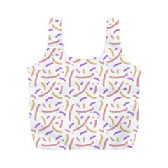 Confetti Background Pink Purple Yellow On White Background Full Print Recycle Bags (m)