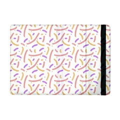 Confetti Background Pink Purple Yellow On White Background iPad Mini 2 Flip Cases
