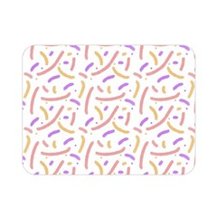 Confetti Background Pink Purple Yellow On White Background Double Sided Flano Blanket (Mini)