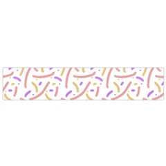 Confetti Background Pink Purple Yellow On White Background Flano Scarf (small)