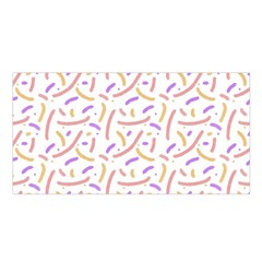 Confetti Background Pink Purple Yellow On White Background Satin Shawl
