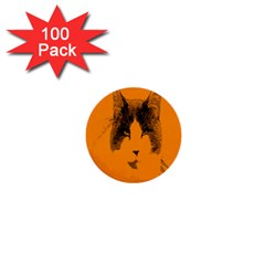 Cat Graphic Art 1  Mini Buttons (100 pack)