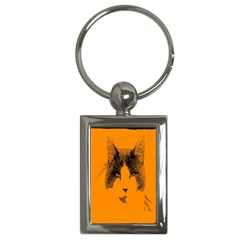 Cat Graphic Art Key Chains (Rectangle)