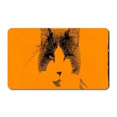 Cat Graphic Art Magnet (Rectangular)