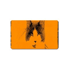 Cat Graphic Art Magnet (name Card)