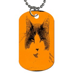 Cat Graphic Art Dog Tag (one Side)