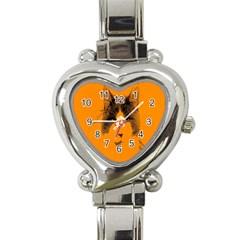 Cat Graphic Art Heart Italian Charm Watch