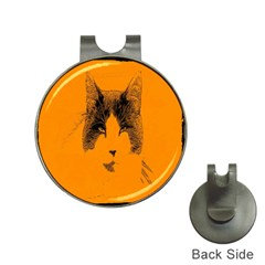Cat Graphic Art Hat Clips With Golf Markers