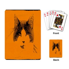 Cat Graphic Art Playing Card